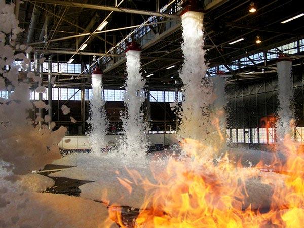 extinción de incendios por espuma