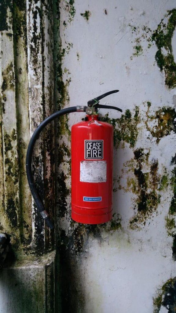 mantenimiento de los extintores