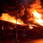 procedimiento de emergencia por incendio en un supermercado